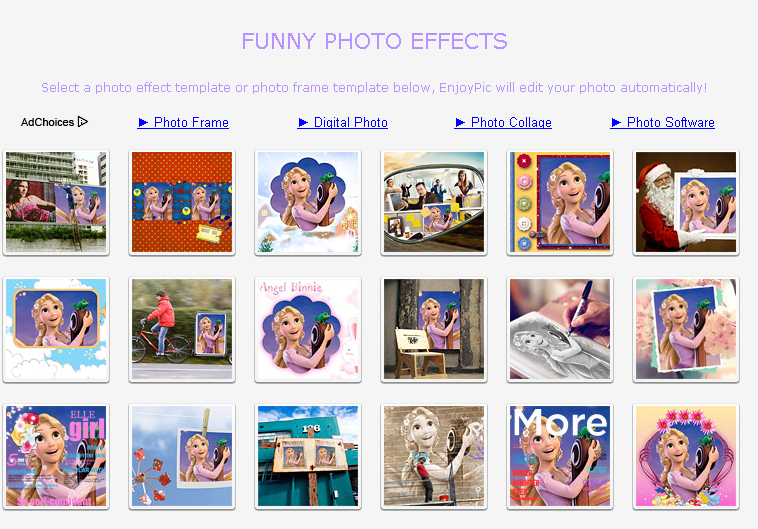 List of Free Online Photo Image Editor and Effects: enjoypic.net