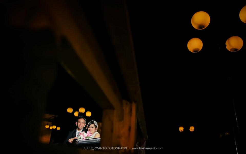 Foto prewedding malam hari