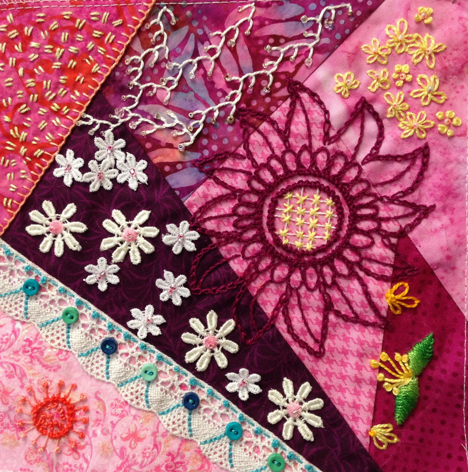 Shop ravelings going crazy with quilt stitches