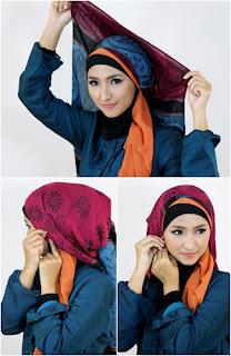 Tutorial hijab kombinasi unik 6 Tutorial Hijab Kombinasi Unik Untuk ke Pesta