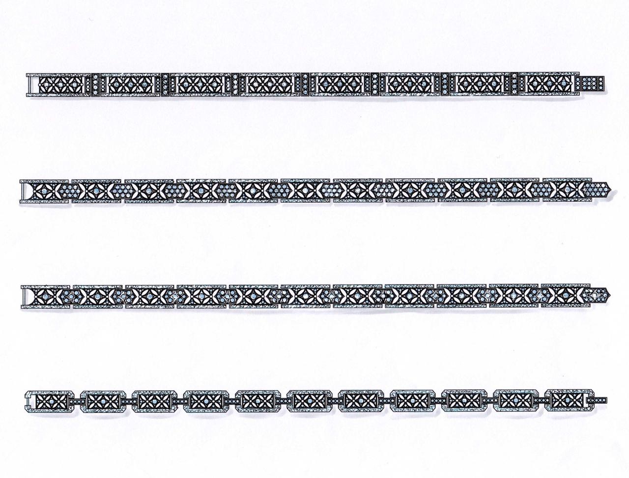 銀座ジュエリーサロンのデザイナーにいろいろな提案がありました。