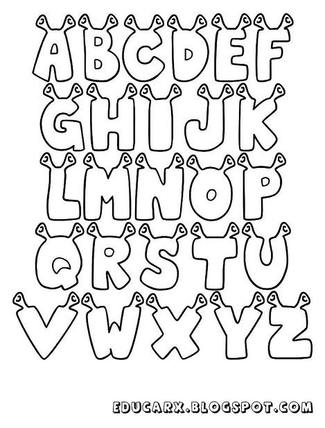Modelo de letras shrek