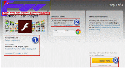 cara udate flash player
