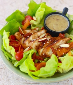 a smple Honey Glazed Chicken Salad recipe with a mix of sweet and savory to wake you up a long day at work