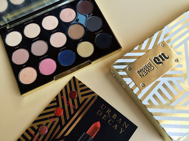 This image shows a review of the Urban Decay Gwen Stefani Eyeshadow Palette