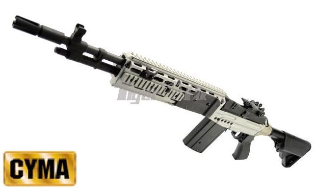 ... Tiger111hk: CYMA CM032 Metal M14 EBR AEG(Extended Stock)(Silver M14 Ebr Silver