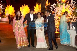 Amitabh, Abhishek, Ash & Others at Kokilaben Ambani's birthday bash