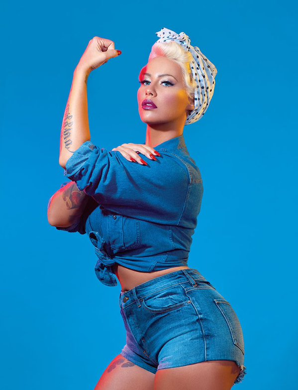 Amber Rose channels feminist icons in sexy shoot for Paper mag