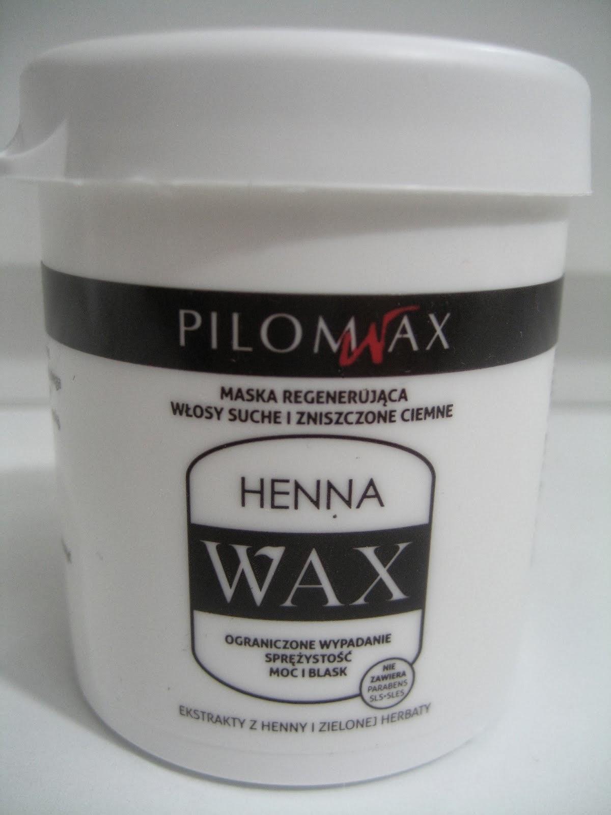 maski do włosów Pilomax, henna wax,