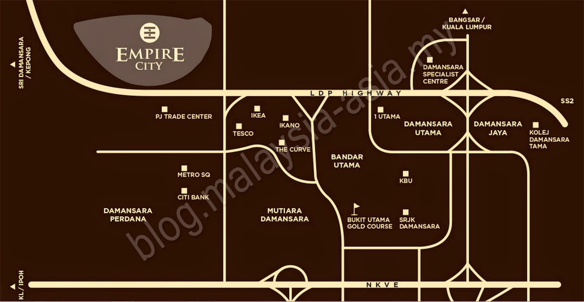 Empire City Damansara Map