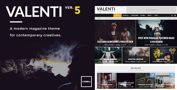 Free Download Valenti V5.0.1 Wordpress HD Review Magazine News Theme