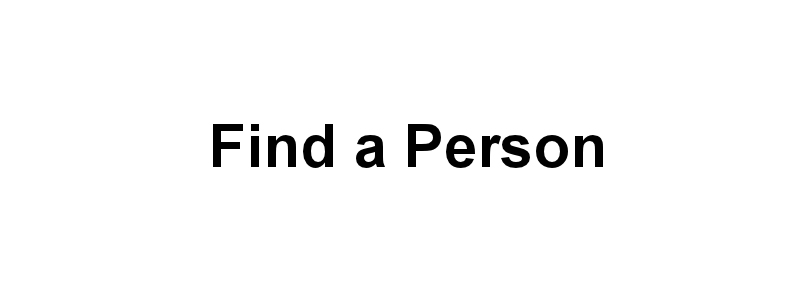 Find A Person