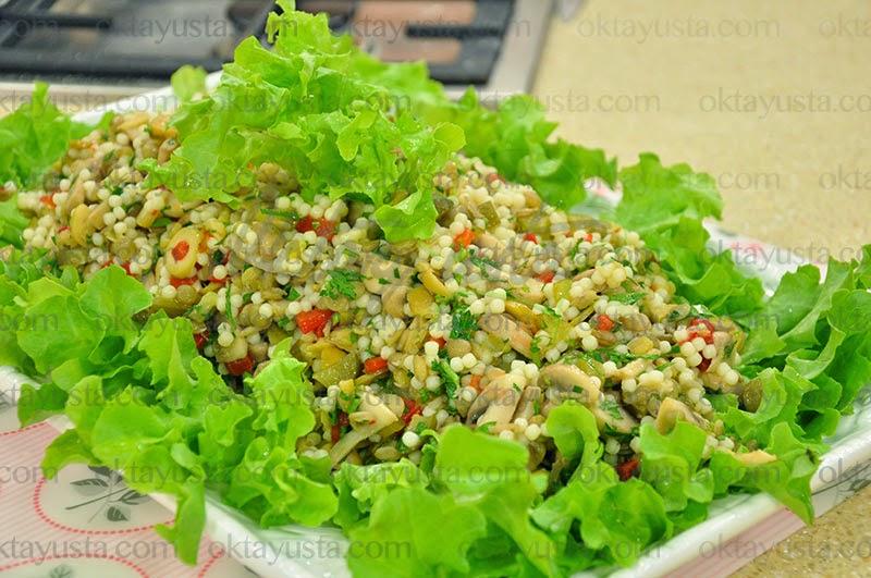 Mercimekli Kuskus Salatası Tarifi Kolay Yapımı