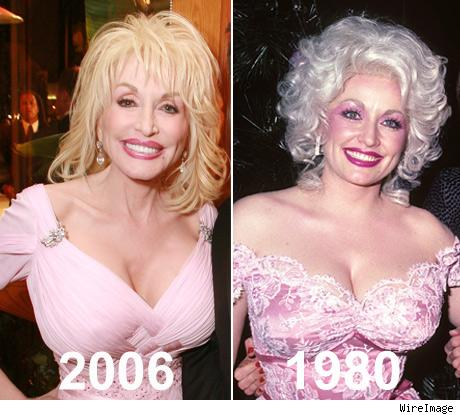 what is dolly partons breast size