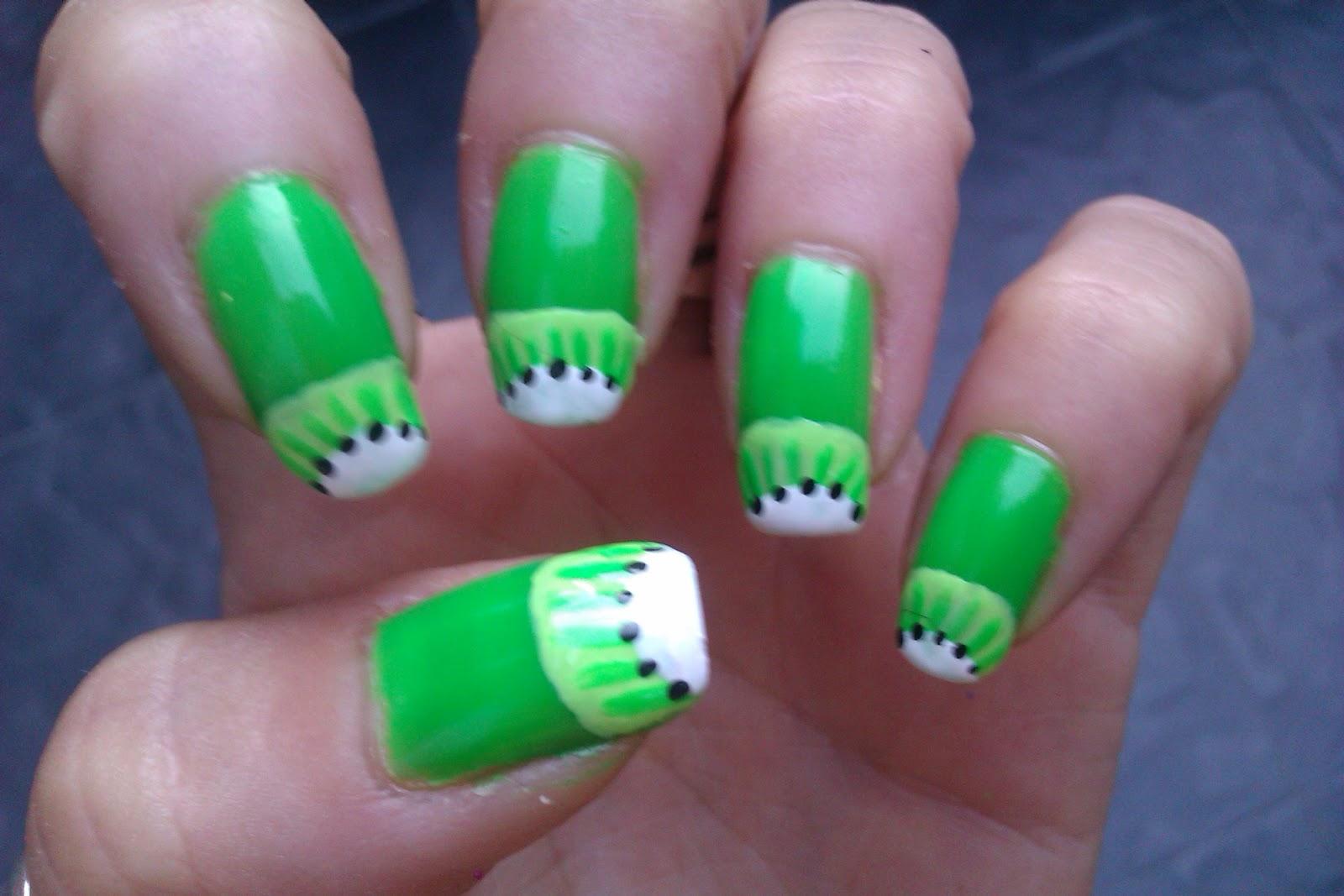Manicura de Fantasia: Día 4: Uñas Verdes.