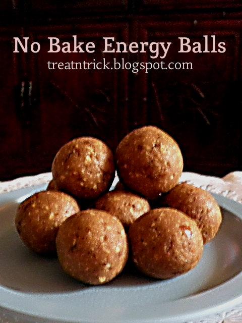 No Bake Energy Balls Recipe @ http://treatntrick.blogspot.com