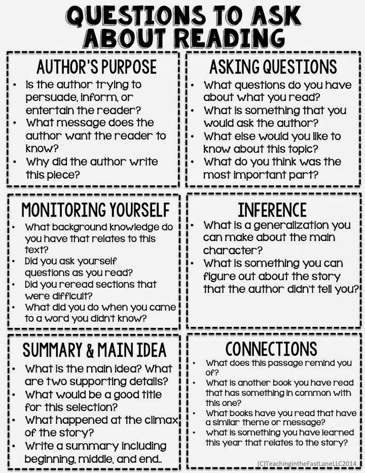 reading comprehension highschool and questions pdf