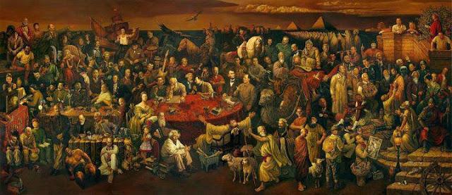 صورة تضم أكثر من 100شخصية من مشاهير التاريخ ..هل تعرف أحدهم !!