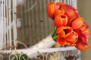 Kansas City Wedding Flowers Pond Photography orange tulips orange calla lilies