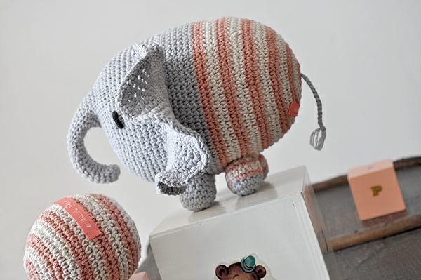 Amigurumi elefante de Miga de pan