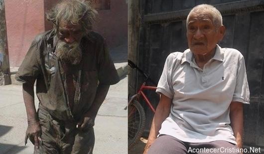 Iglesia ayuda a un mendigo de la calle