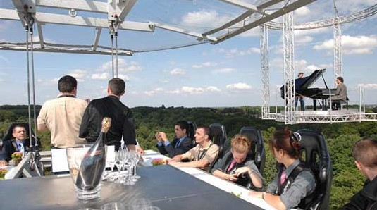 Dinner Sky High The Eccentricities Of The World - Dinner in the sky an unforgettable experience