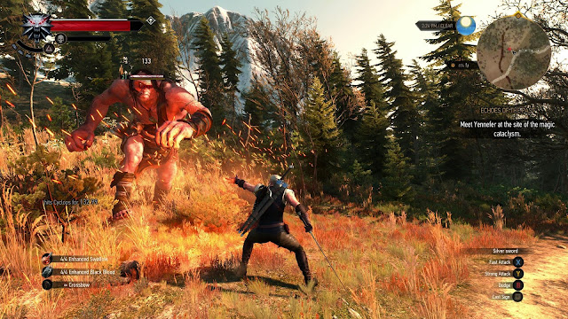 Witcher 3 Giant fight