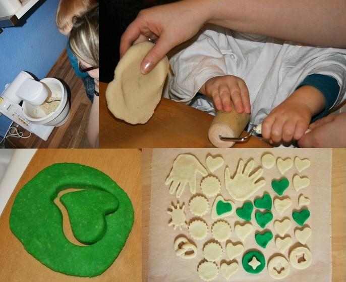 Wolkes kreativwerkstatt basteln mit kindern salzteig - Tannenbaumschmuck basteln mit kindern ...