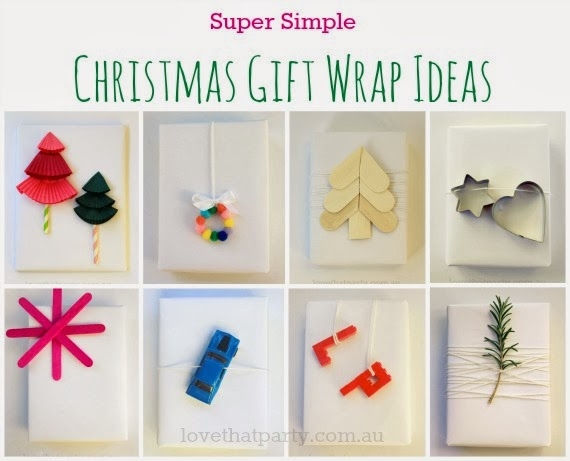 8 easy Christmas Gift Wrapping Ideas that are simple and cheap! www.lovethatparty.com.au