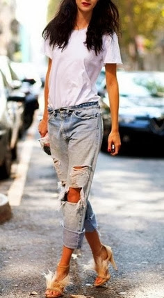 distressed denim-love these jeans!