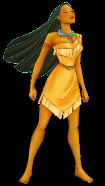 Pocahontas desenho com fundo transparente