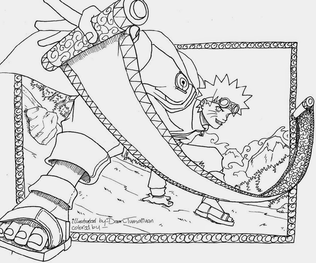 Mewarnai Gambar Naruto Lucu Shippuden