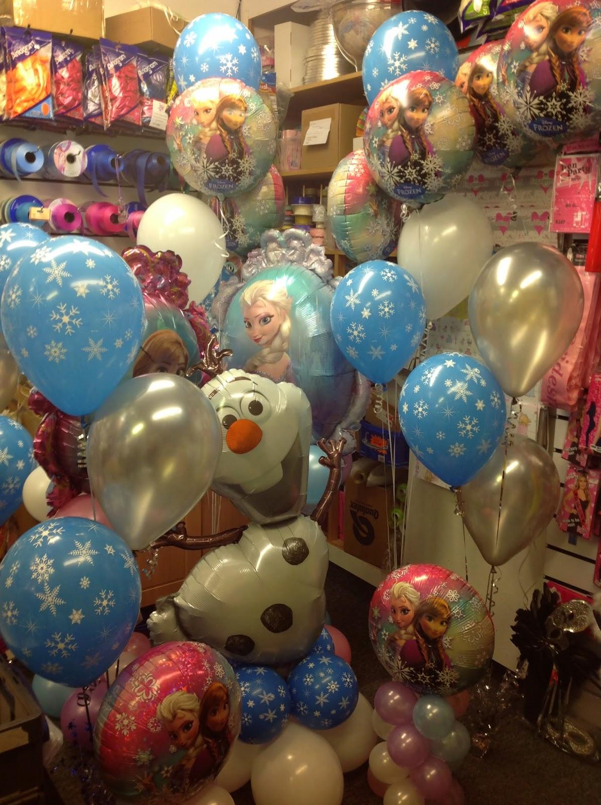 Enchanted weddings events bristol frozen party balloon for Frozen balloon ideas