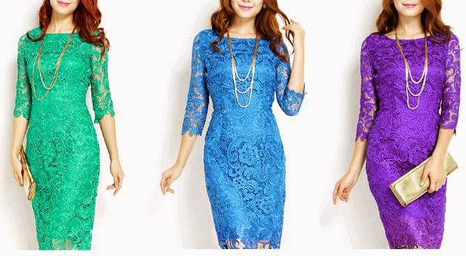 Embroidery Lace Crochet Long Dress