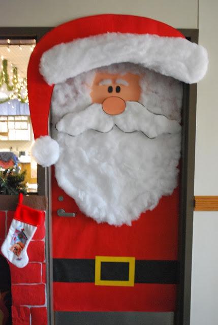 Στολισμός σχολικής πόρτας-Άγιος Βασίλης