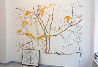 Richard Müller: galerie La Ferronnerie Plantes dépassant la neige