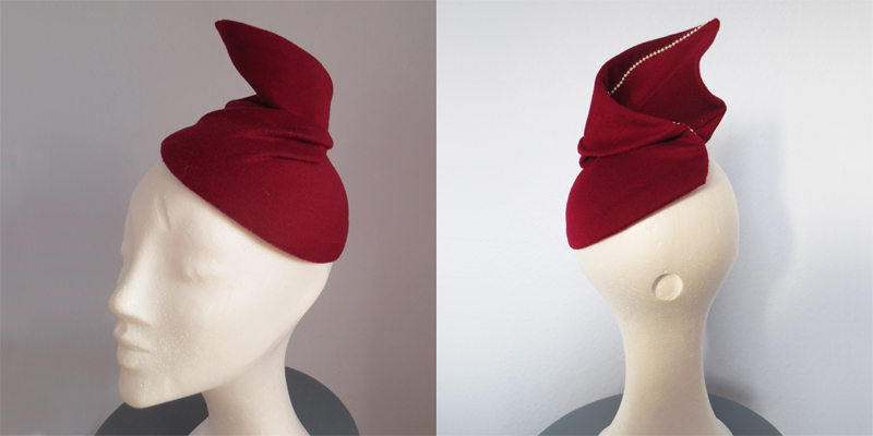 Hat by Stina P Rubis Jewels Hiver 1951
