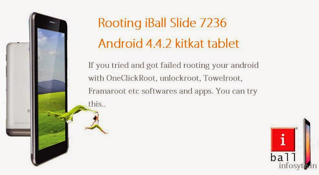 Root iBall Slide 7236 Android 4.4.2 kitkat tablet