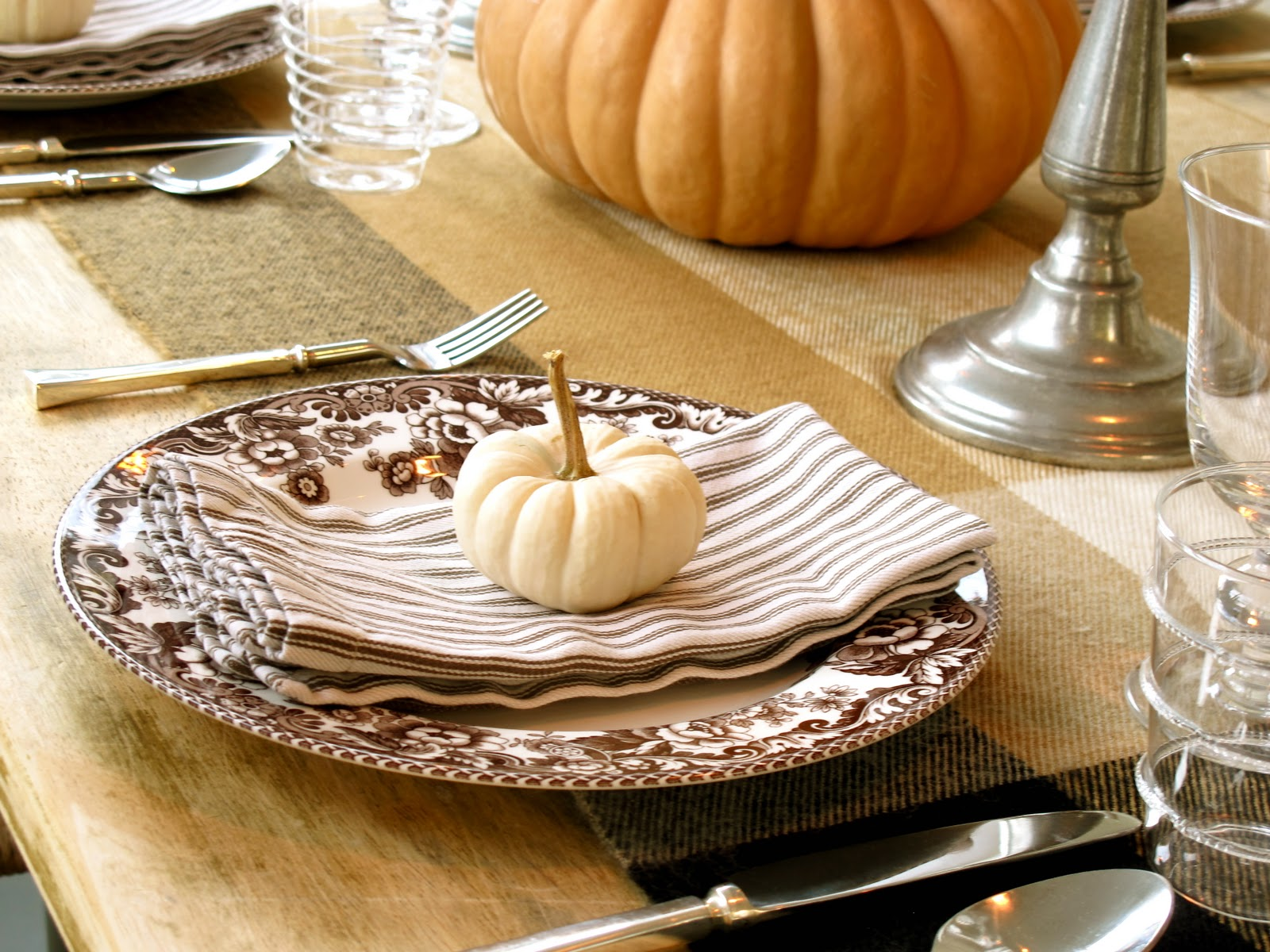 Jenny Steffens Hobick Fall Table Setting Fall