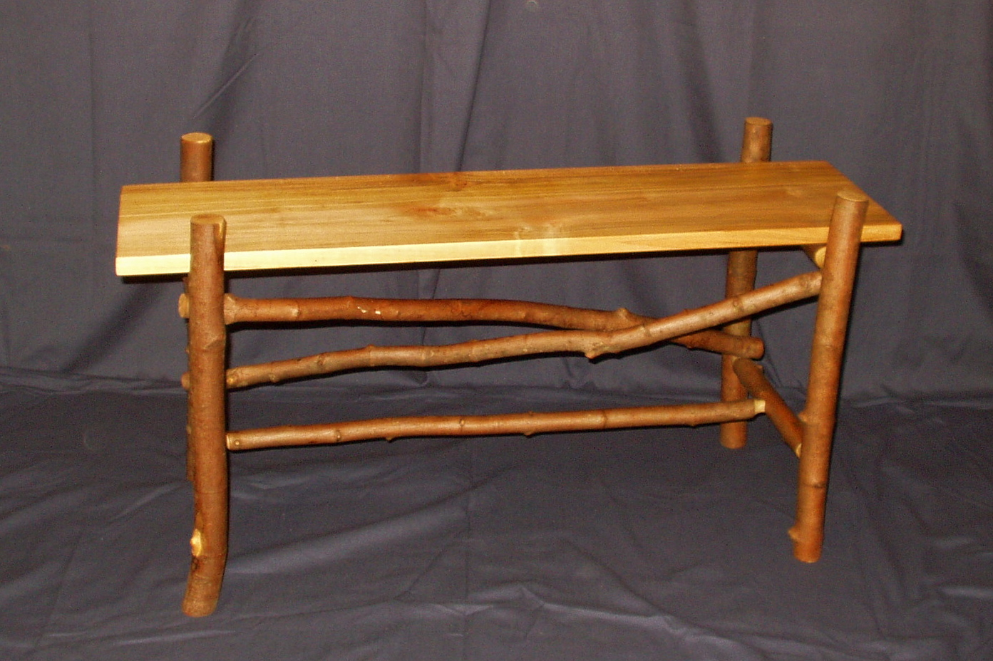 Rustic Maple Bench