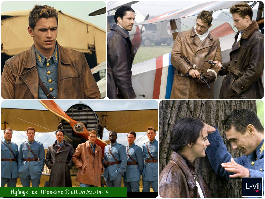 Flyboys movie vs Massimo Dutti AW2014-15 LookBook  L-vi.com