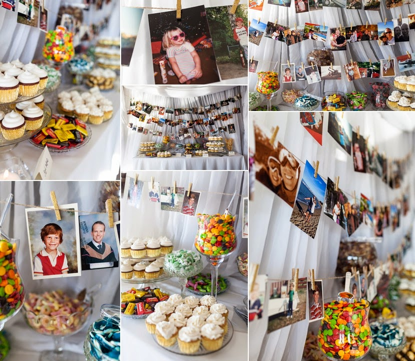 amazing candy bar wedding photo