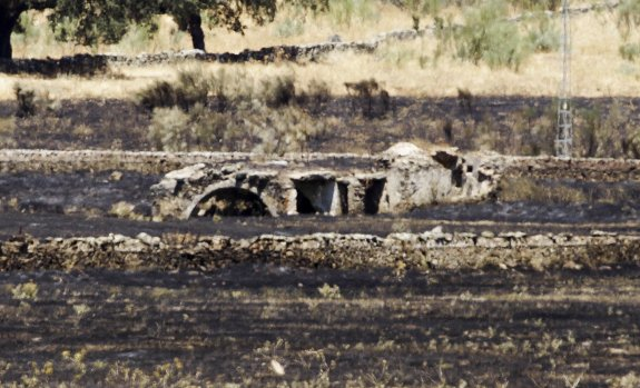 Incendio en la ermita de San Jorge