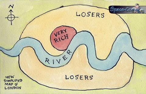 funny London map picture