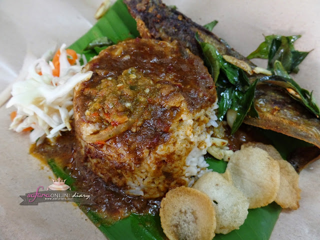 Nasi Kukus Ikan Keli