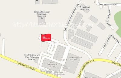 Restoran Arab Shah alam, map restoran arab, peta restoran zam zam shah alam