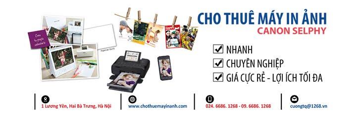 Cho thuê máy in ảnh lấy ngay Canon Selphy tại Hà Nội giá rẻ