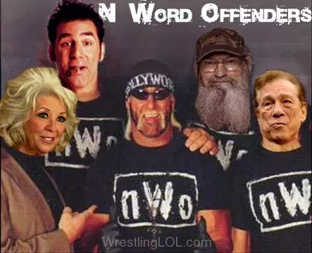 paula deen, michael richardson of seinfeld, hulk hogan, hulk hogan and n-ord