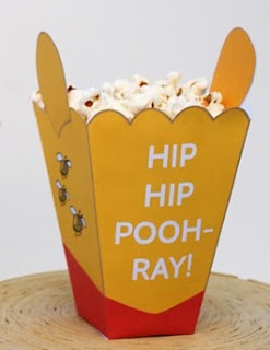 Winnie the Pooh: Free Printable Popcorn Box.