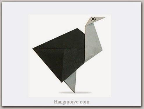 Cách gấp, xếp con đà điểu bằng giấy origami - Video hướng dẫn xếp hình Động vật - How to fold a Ostrich